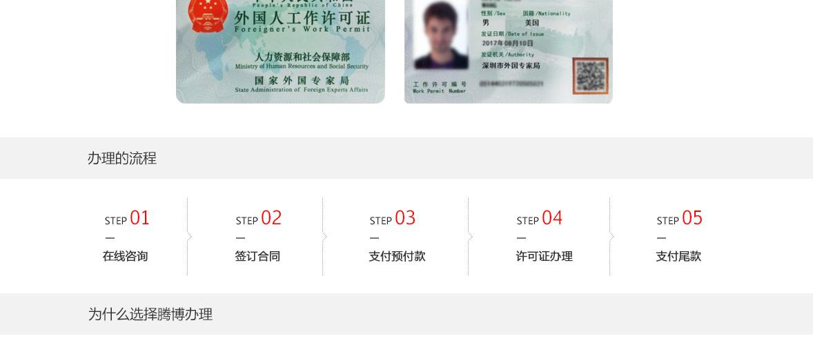 外国人工作签证办理流程